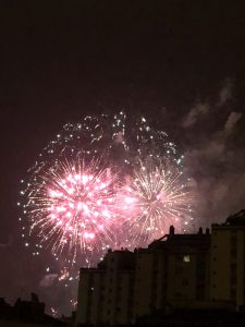 Fire works in Pamplona