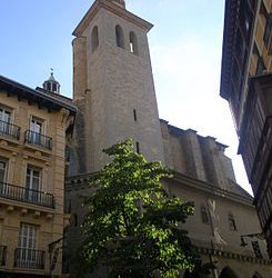 The most beautiful church in Pamplona is San Saturninos´