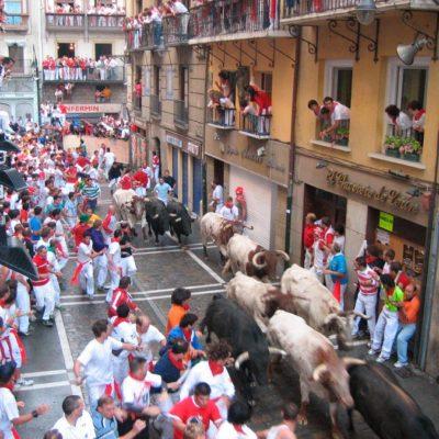 PamplonaFiesta.com - Balcony spot in Estafeta