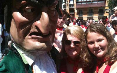 Giants and Big-heads during San Fermin