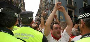 Police in Pamplona