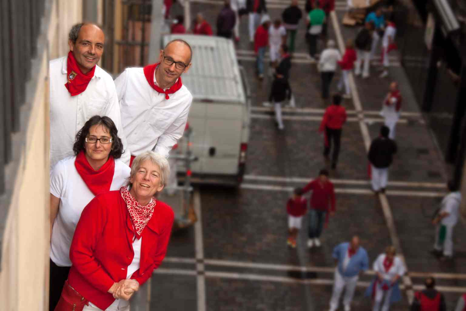 Part of our team in pamplona fiesta.com