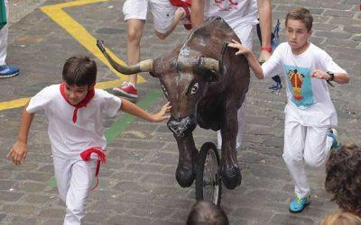 Running of the bulls for children